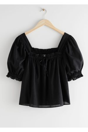 & OTHER STORIES Square Neck Puff Sleeve Top
