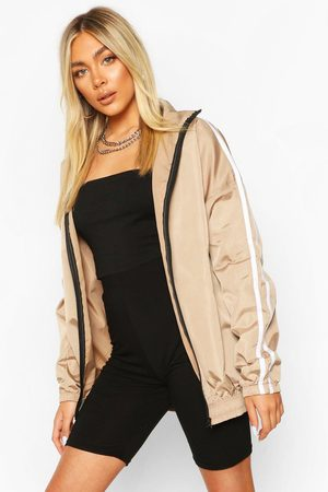 Boohoo Womens Side Stripe Windbreaker - - 6