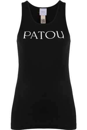 Patou Scoop neck logo tank top