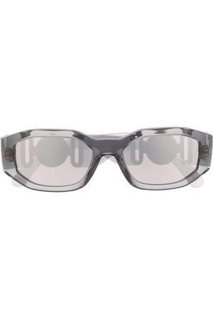 Versace Eyewear Logo plaque sunglasses - Grey