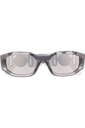 VERSACE Logo plaque sunglasses - Grey