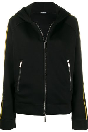 Dsquared2 Women Hoodies - Logo stripe zipped hoodie