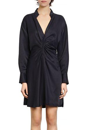 Sandro Celia Ruched Mini Dress