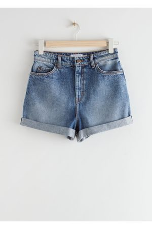 & OTHER STORIES Rolled Hem Denim Shorts