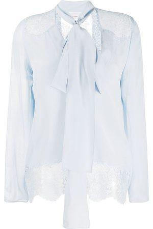 FAITH CONNEXION Pussy-bow silk blouse