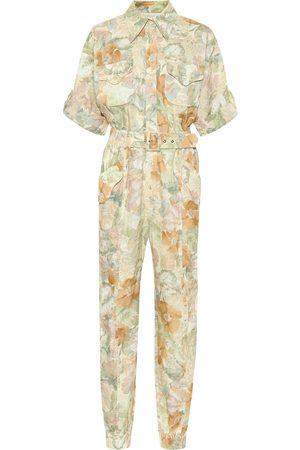 ZIMMERMANN Glassy floral linen belted jumpsuit
