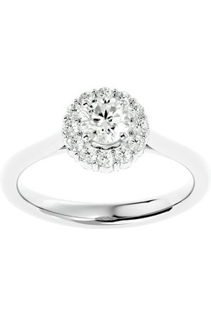 SuperJeweler 3/4 Carat Halo Diamond Engagement Ring in 14K (3.70 g) (