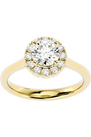 SuperJeweler 1 1/3 Carat Halo Diamond Engagement Ring in 14K (4 g) (