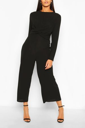 Boohoo Womens Tall Wrap Waist Culotte Jumpsuit - - 2