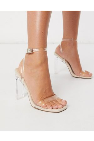ASOS Women Sandals - Norton clear barely there heeled sandals