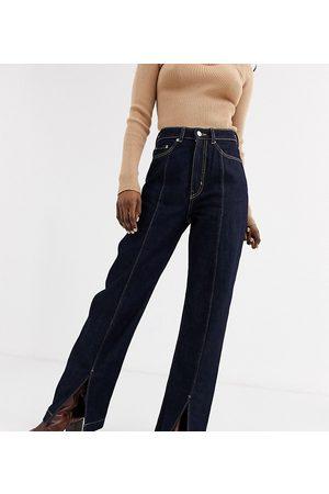 Weekday Row organic cotton high waist jeans in dark rinse