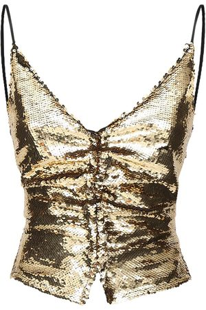 AMEN Sequined Open Back Top