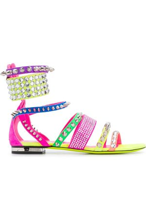 Philipp Plein Studded colour-block sandals