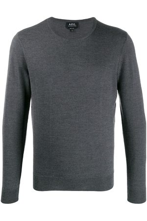 A.P.C Slim-fit crew neck pullover - Grey