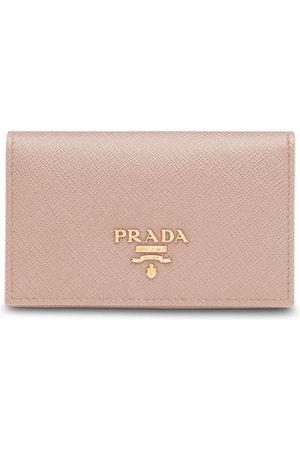 Prada Logo-plaque foldover cardholder