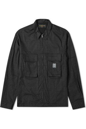 Flagstuff Men Shirts - Maze Printed Shirt Jacket