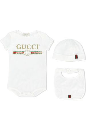 Gucci Three-piece babygrow set