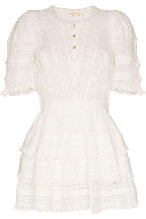 LOVESHACKFANCY Quincy ruffled cotton mini dress