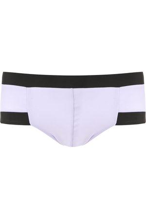AMIR SLAMA Men Swim Shorts - Contrasting trim swim trunks