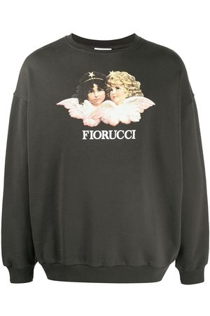 Fiorucci Men Sweatshirts - Vintage Angels printed sweatshirt - Grey