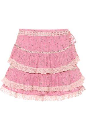 LOVESHACKFANCY Exclusive to Mytheresa – Bara floral cotton miniskirt