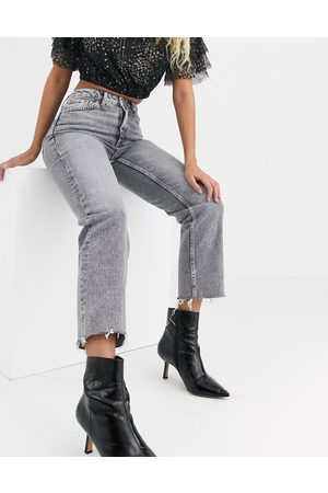 Topshop Women High Waisted - Straight leg jeans in
