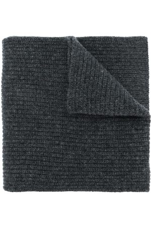 N.PEAL Women Scarves - Chunky ribbed scarf - Grey