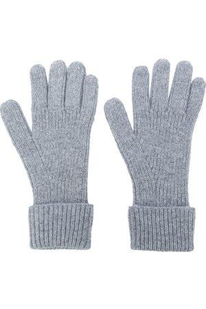 N.Peal Men Gloves - Ribbed gloves - Grey