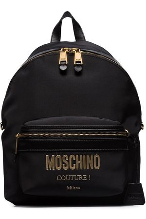 Moschino Metal-logo backpack