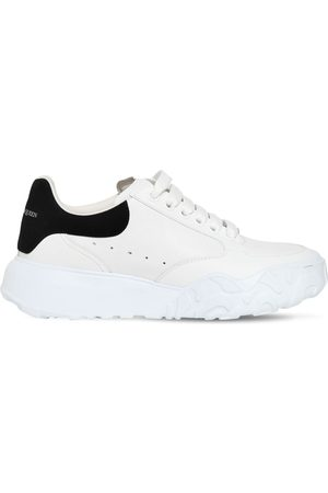 Alexander McQueen 45mm Court Trainer Leather Sneakers