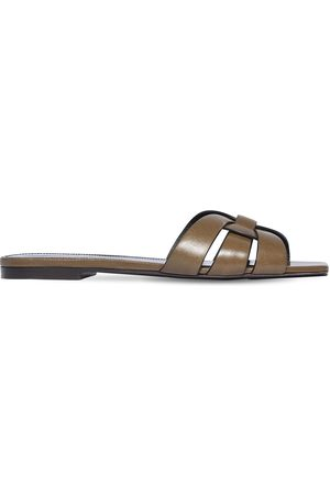 Saint Laurent 10mm Tribute Leather Sandals