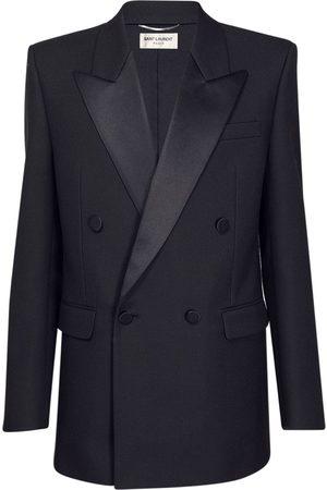 Saint Laurent Wool Twill Smoking Jacket
