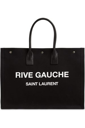 Saint Laurent Rive Gauche Printed Canvas Tote