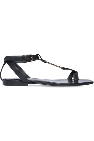 Saint Laurent 10mm Cassandra Leather Thong Sandals