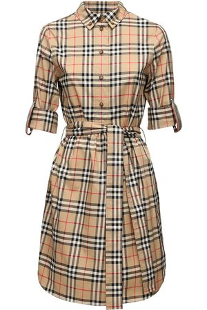 Burberry Checked Cotton Poplin Shirt Dress