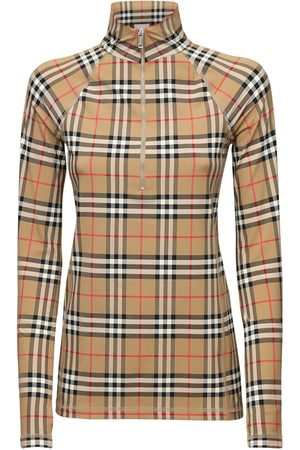 Burberry Iconic Check Lycra Cycling Top