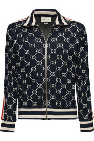 Gucci Gg Supreme Logo Zip-up Track Jacket