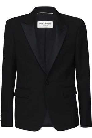 Saint Laurent Wool Gabardine Tuxedo Jacket