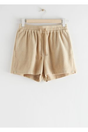& OTHER STORIES Women Shorts - Drawstring Velour Shorts