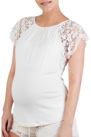 Cache Coeur Women's Sofia Lace Sleeve Maternity/nursing Pajama Top