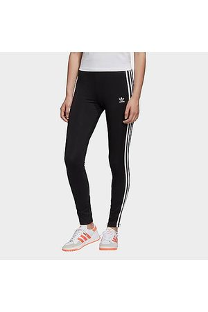 adidas Women's Originals 3-Stripes Trefoil Leggings in Size X-Small Cotton/Jersey