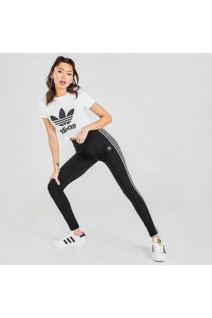 adidas Women's Originals 3-Stripes Trefoil Leggings Size Large Cotton/Jersey