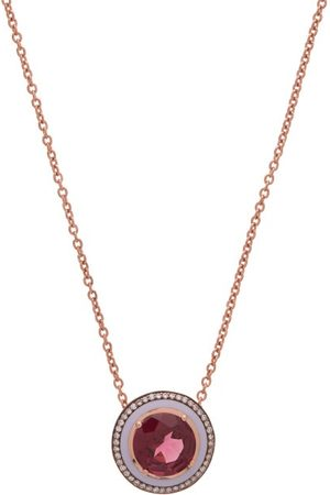 SELIM MOUZANNAR Women Necklaces - Diamond, Rhodolite & 18kt Rose- Necklace - Womens - Rose
