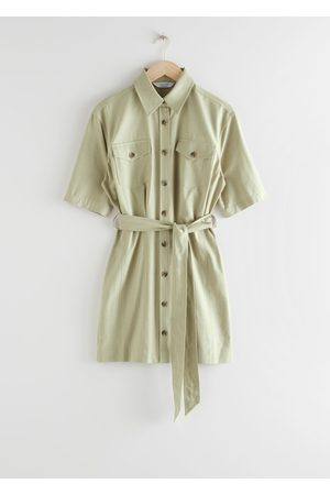 & OTHER STORIES Belted Shirt Mini Dress