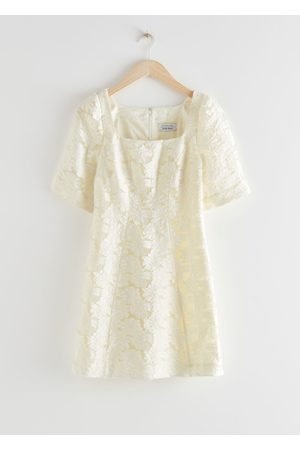 & OTHER STORIES Flower Jacquard Mini Dress