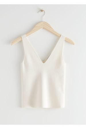 & OTHER STORIES Stretch Rib Knit Tank Top