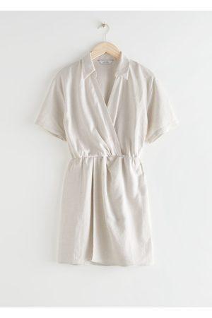 & OTHER STORIES Women Party Dresses - Twisted Waist Twill Mini Dress