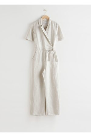 & OTHER STORIES Short-Sleeved Wrap Jumpsuit