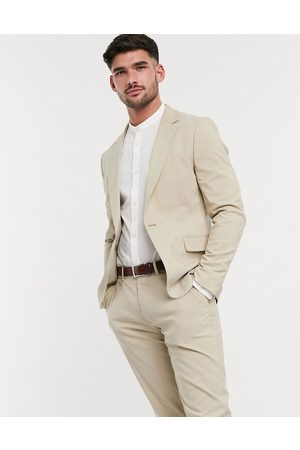 ASOS Skinny suit jacket in putty-Stone