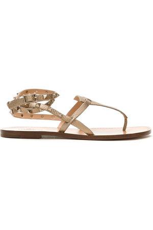 VALENTINO GARAVANI Rockstud Double flip-flop sandals - NEUTRALS